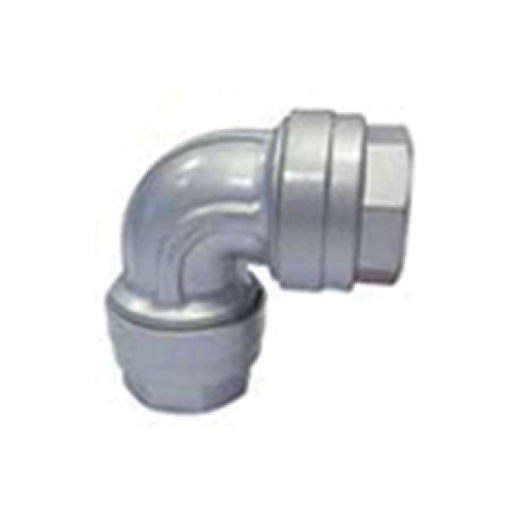 90 Elbow Connector - 63mm Aluminium